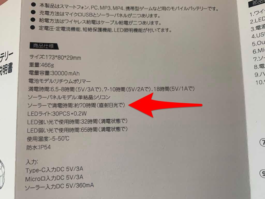 NAGI ZAKKAソーラーモバイルバッテリーの取扱説明書